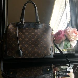 Louis Vuitton Retiro Noir Monogram Leather Satchel